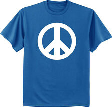 Men's t-shirt peace sign design tee shirt for men peace symbol tshirt blue