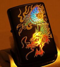 RARE Zippo Lighter JAPANESE *RAINBOW DRAGON* 7 COLOUR BEAUTIFUL HOLOGRAPHIC
