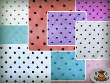 """Organza Velvet Flock Polka Dots Fabric / 60"""" Wide / Sold by the yard"""