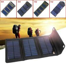 Outdoor Mobile Phone Powerbank Folding Solar Power Charger Panel Bag USB Output