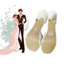 I Do & Me Too Set Wedding Bridal and Groom Shoes Sticker Wedding Decal JR