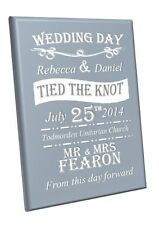 wedding day canvas ready to hang mr & mrs couple gift anniversary a1 a2 a3 a4