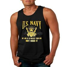 US Navy Mens Tank Top My Job Is To Protect Your Ass Not Kiss It Seal