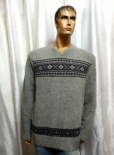 Tommy Hilfiger mens FLAG Holiday Lambswool V-neck pullover sweater XL XXL NEW