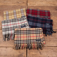 Vintage Mens / Womens Nova Check Burberry Scarf Wool / Cashmere Authentic UK
