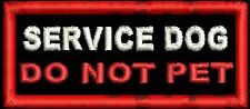 Service Dog Do Not Pet Working Dog Patch Assisstance Service Dog Black White Red