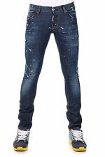 DSQUARED2 Dsquared² New Men Blue Denim Pants Jeans SEXY BOOT Made Italy NWT