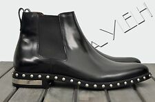 GIVENCHY Authentic New Black Leather Metal & Studs Chelsea Ankle Boots sz 44 11