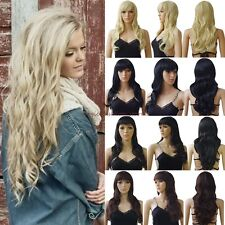 Sexy Women Wigs Long Curly Straight Cosplay Costume Party Daily Fancy Dress Soft