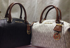 New MICHAEL Michael Kors Riley Signature Small Satchel