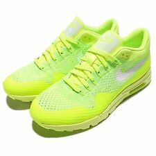 Wmns Nike Air Max 1 Ultra Flyknit Volt White Womens Running Shoes 843387-701
