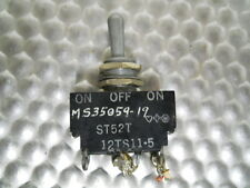 Micro Switch Aircraft ST52T Toggle Switch -DPDT - Maintained ON-OFF-Momentary ON