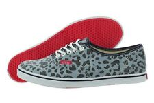 Vans Authentic Lo Pro VN-0W7NEU8 Denim Leopard Print Shoes Medium (B, M) Womens