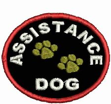 Assistance Service Dog Patch Round Shaped Dog Vest Patch Crest White Black