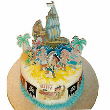 Jake Neverland Pirates Edible Cake Topper 3D Cake Scene Personalized