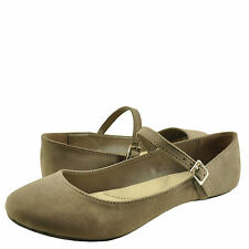 Women's Shoes Bamboo Chantel 30V Casual Ballet Mary Jane Flats Light Taupe *New*