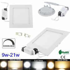 Dimmable 9W 12W 15W 18W 21W Cree LED Recessed Ceiling Panel Down Light AC85-265V