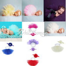 Baby Girls Newborn Flower Tutu Skirt Dress Costume Photo Photography Prop Outfit