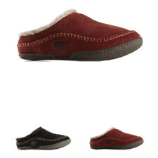 Mens Sorel Falcon Ridge Fur Lined Winter Warm Slip On Suede Slippers UK 7-12