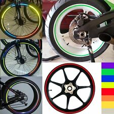 Motorcycle Rim Tape Reflective Wheel Stickers Decals Vinyl Set Kit