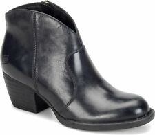 Women's Born ZipOn Western Bootie Boot Michel Black Leather D89703