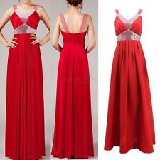 Sexy Women Sleeveless Formal Prom Ball Sequin Cocktail Dress Party Evenning Gown