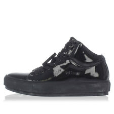 ACNE STUDIOS Woman Leather CLEO PATENT High Sneakers with Removable Details