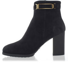 TOD'S Woman Black Suede Ankle Boots Made in Italy New with tags and Original