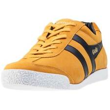 Gola Harrier Mens Trainers Yellow Black New Shoes