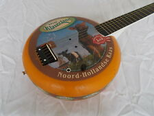 Dutch cheese guitar with amp, canjo, cigarbox, electro-acoustic, kaasgitaar