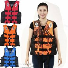 Adult Swimming Life Jacket Vest PFD Type III Universal Boating Fully Enclosed