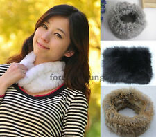 Women 100% New Real Rex Rabbit Fur Scarf Shawl Neck Collar Scarf Wrap Cape Stole