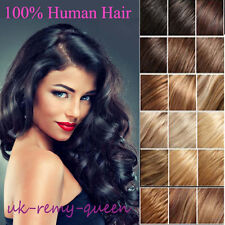 UK HOT SALE Real Cheap Price Clip In Remy Human Hair Extensions Full Head T055