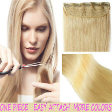 Premium Remy 100% Human Hair Extensions Clip In Weft 3/4 Full Head Straight T257