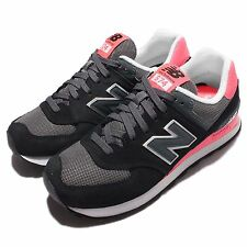 New Balance WL574CPL B Black Pink Suede Womens Running Shoes Sneakers WL574CPLB