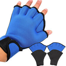Frog Webbed Surfing Swim AID Gloves Swimming Hand Aqua Training Paddles