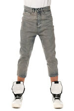 RICK OWENS DRKSHDW New Men Dropped Crotch Capri Jeans SPHINX Pants Made Italy