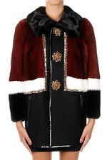 DSQUARED2 D2 Woman Mixed Virgin Wool Coat with Mink Fur