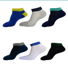 1/3/6 Pairs Mens Five Toe Socks Cotton Low Cut Sports Breathable Business Socks