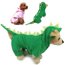 Didog Fashion Dinosaur Dog Costumes Clothes Teddy Schnauzer Dog Hoodie Jacket