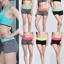 Summer Women Soft Sports Shorts Gym Yoga Running Skinny Workout Waistband Pants