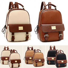 PU Leather Women's Backpack Korean Style Student  Bookbags Travel Bag New WB