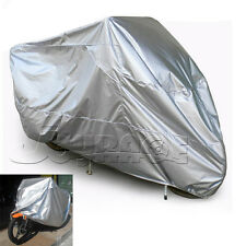 Motorcycle Silver Outdoor UV Protector Bike Rain Dust proof  Cover Scooter L