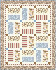 Quilting Treasures Zoe & Zack Sock Monkey Flannel BTY 100% Cotton Quilt Fabric