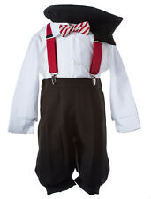 NEW Boys Holiday Knicker Set with Red Suspenders and Candy Cane Bow Tie, K919