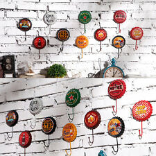 Retro Metal Tin Bottle Beer Cap Sign Hook Art Poster Pub Club Wall Home Decor