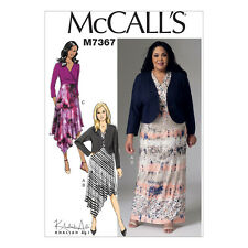 McCalls Sewing Pattern M7367  Misses/Womens Shrug and Surplice Dresses