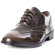 Dolcis Madison Brogue Pu Womens Brogues Brown New Shoes
