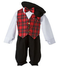 NEW Boys Holiday Knicker Set with Red Vest and Matching Bow Tie