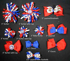 New York Giants Themed Hair Bows Korkers Classic Bottle Caps U-Pick